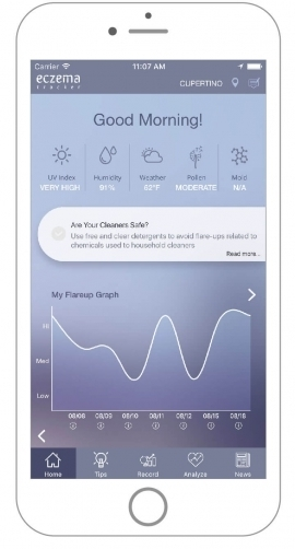 Eczema Tracker app for smartphones reviewed by Miiskin